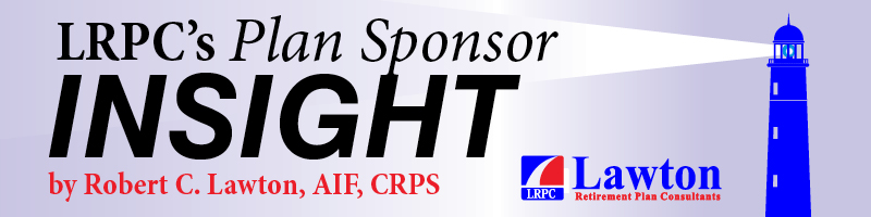 401k loan post preceeded by LRPC's Plan Sponsor Insight image.